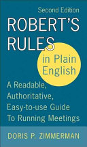 Robert s Rules in Plain English 2e