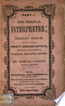 The Biblical interpreter  or  Christian s treasury