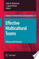 Book Effective Multicultural Teams  Theory and Practice