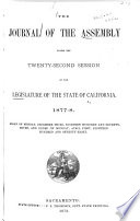The Journal of the Assembly     of the Legislature of the State of California     Book PDF