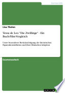 """Tessa de Loo """"Die Zwillinge"""" - Ein Buch-Film-Vergleich"""