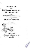 Storia della economia pubblica in Italia, ossia Epilogo critico degli economisti italiani, preceduto da un'introduzione di Giuseppe Pecchio