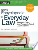 Nolo's Encyclopedia Of Everyday Law : legal questions come up daily. this...