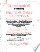 Klare vnd gründliche beweisung. Wider D. G. Maiors Repetition. Das er mit seiner Erklerung der bäbstischen Proposition (Gute Werck sind nötig zur Seligkeit [et]c.) in der Kirchen noch schaden thu ...