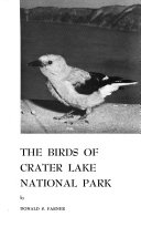 The Birds of Crater Lake National Park