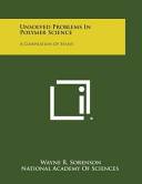 Unsolved Problems in Polymer Science Pdf/ePub eBook