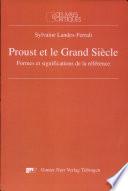 Proust et le Grand Si  cle