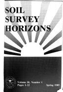 Soil Survey Horizons