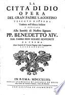 La Citt   di Dio opera del gran padre S  Agostino vescovo d Ippona tradotta nell idioma italiano     dal padre don Cesare Benvenuti da Crema