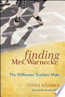 Finding Mrs  Warnecke