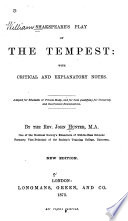 The Tempest  with Critical and Explanatory Notes