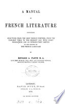 A Manual of French Literature