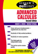 Schaum s Outline of Advanced Calculus  Second Edition