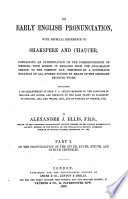 On Early English Pronunciation