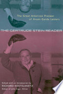The Gertrude Stein Reader
