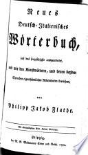 Nuovo dizionario italiano tedesco e tedesco italiano     ora esattamente corretto ed arrichito   Von Philipp Jakob Flathe