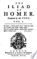 The Iliad of Homer  Several Versions