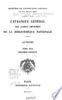 Catalogue general des livres imprimes   auteurs
