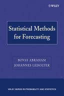 Statistical Methods for Forecasting