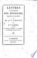 illustration Lettres à l'usage des négocians