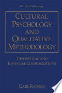 Cultural Psychology and Qualitative Methodology