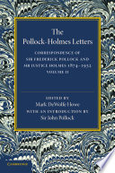 The Pollock–Holmes Letters