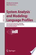 System Analysis and Modeling  Language Profiles