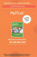 Myitlab with Pearson Etext    Access Card    For Go  with Office 2016
