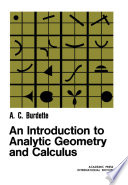An Introduction to Analytic Geometry and Calculus