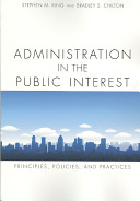 Administration in the Public Interest