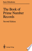 The Book Of Prime Number Records book