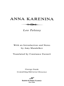 Anna Karenina (Barnes & Noble Classics Series)
