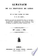 Almanach de la province de Liège et de la Cour d'appel de Liège et son ressort