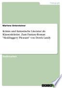 """Krimis und fantastische Literatur als Klassenlektüre. Zum Fantasy-Roman """"Skulduggery Pleasant"""" von Derek Landy"""