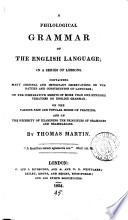 A philological grammar of the English language
