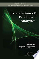 Foundations Of Predictive Analytics