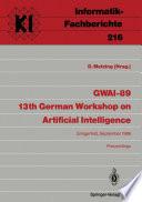 GWAI 89 13th German Workshop on Artificial Intelligence