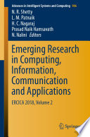 Emerging Research In Computing Information Communication And Applications