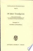 30 Jahre Grundgesetz