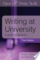 Writing at University