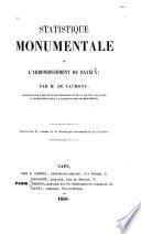 Statistique monumentale de l'arrondissement de Bayeux