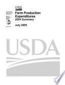 Farm Production Expenditures 2004 Summary  July 2005