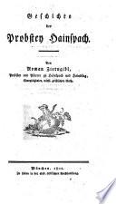 Geschichte der Probstey Hainspach