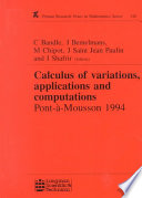 Calculus of Variations  Applications and Computations