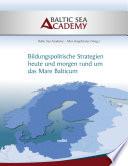 """Bildungspolitische Strategien heute und morgen rund um das """"Mare Balticum"""