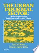 The Urban Informal Sector