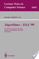 Algorithms   ESA 99