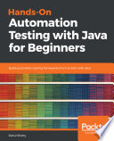 Hands On Automation Testing With Java For Beginners