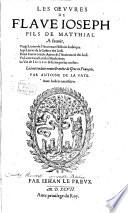 Les Oevvres De Flave Ioseph Fils De Matthias