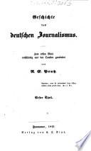 Geschichte des deutschen Journalismus